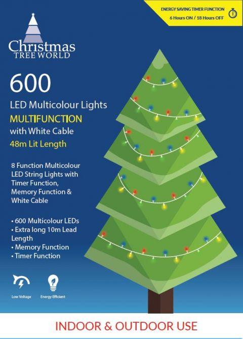 Ctw 600 Multi Function Led Lights With White Cable 3 Colours