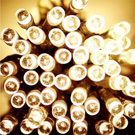 Pictured: 500 LED Solar Powered String Lights (4 Colours)