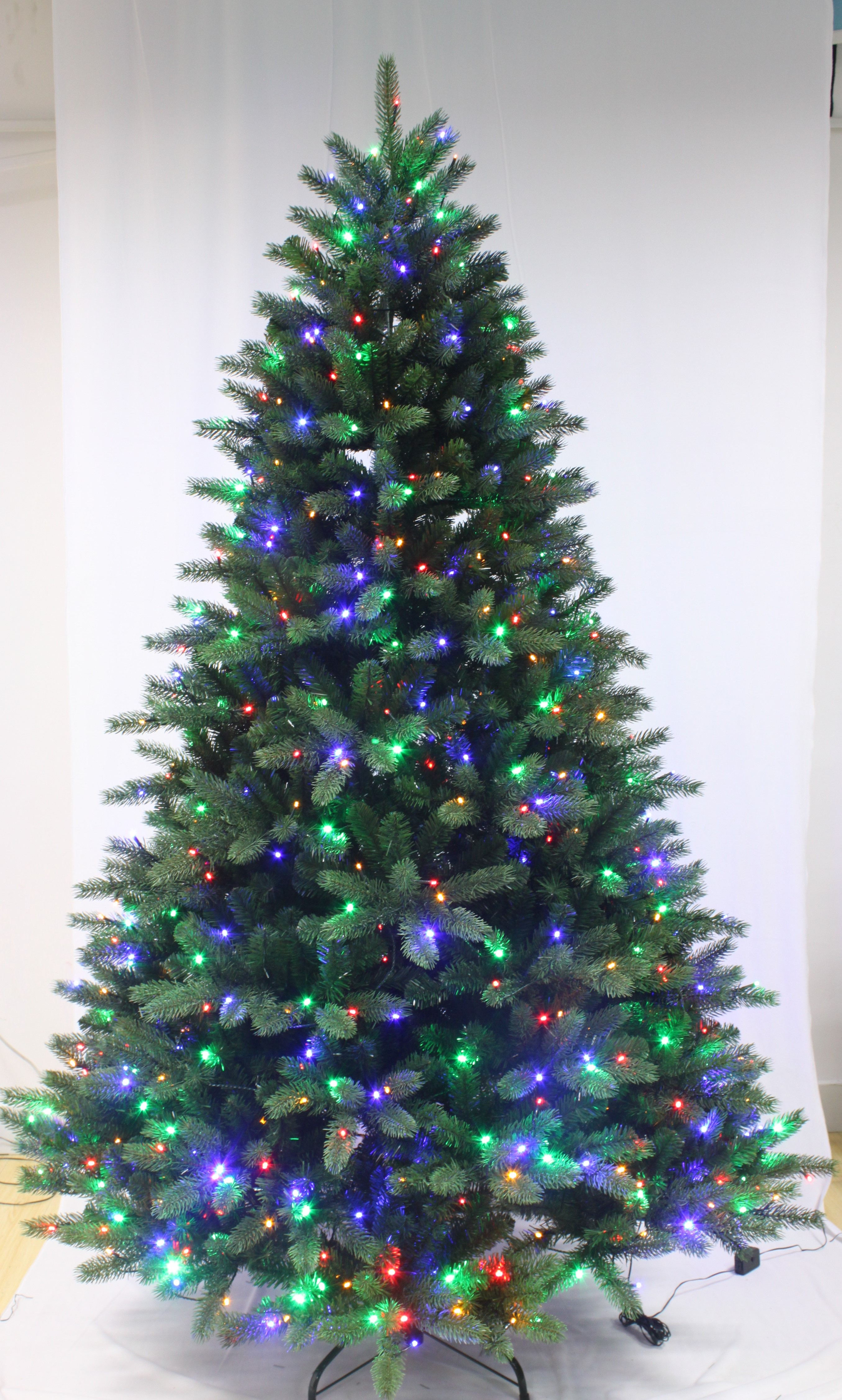 5ft ultra devonshire fir pre lit with multicoloured leds for Artificial christmas decoration tree